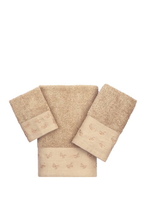 Butterfly 3-Piece Towel Set - Online Only