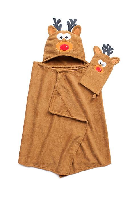 Tub Time Tots Kids Bath Wrap - 2 Piece Set