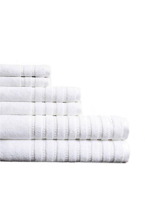 Burke Combed Cotton 6 Piece Towel Set
