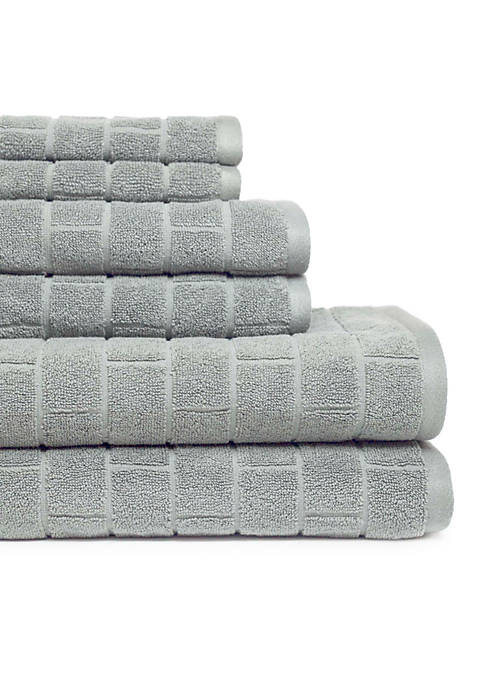 American Dawn Cobblestone Tiles 6 Piece Towel Set