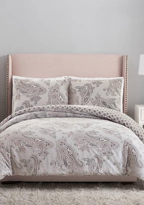 3 Piece Paisley Night Comforter Set