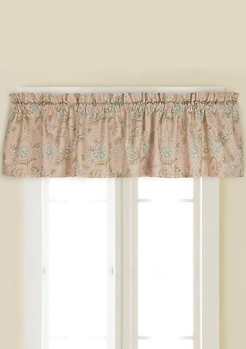 Rose Tree Moselle Lined Window Valance, 14-in. x