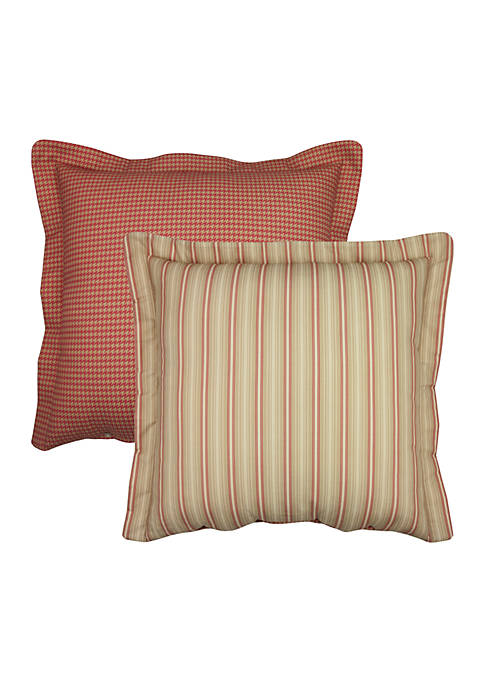 Vienne Red Houndstooth European Sham 26-in. x 26-in.