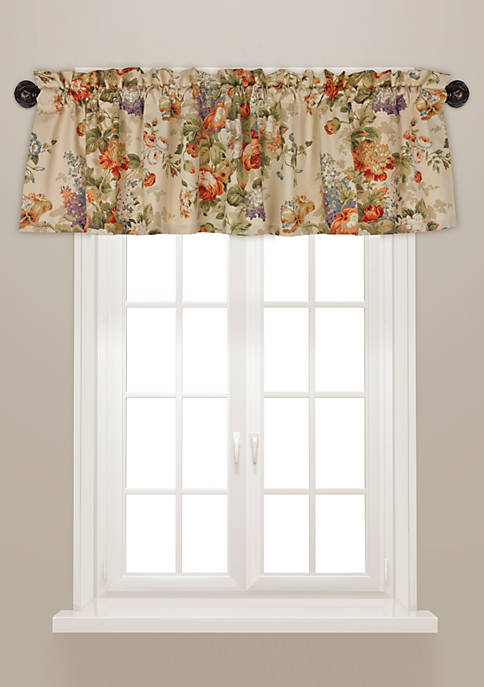 Rose Tree Vienne Floral Tailored Window Valance 14-in.