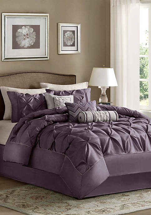 Madison Park Laurel Plum 7-Piece Queen Comforter Set