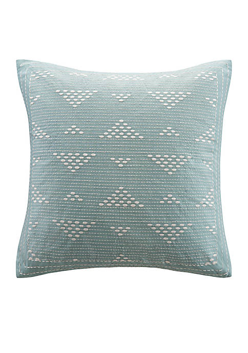 INK + IVY® Cario Embroidered Square Pillow