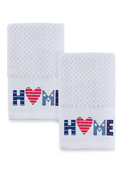 Home 2 Pack Hand Towel Set