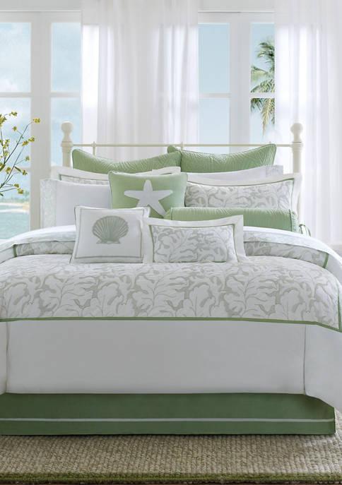 Brisbane White Leaf King Comforter Set 110-in. x 96-in.