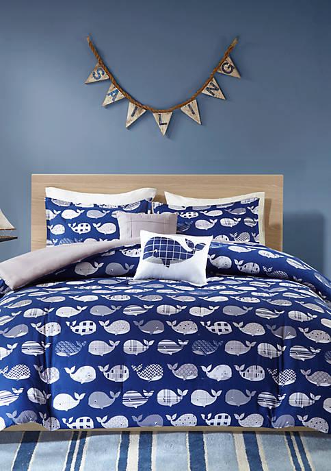 Urban Habitat Kids Moby Whale Comforter Set Belk