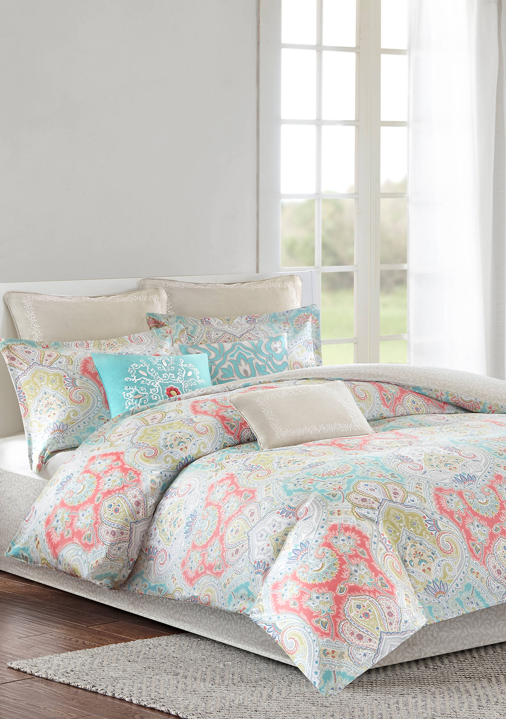 free echo shipping design juneau overstock cotton bedding bath bed product comforter today set