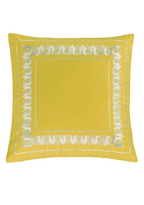 Echo Design™ Jaipur Yellow Embroidered Euro Sham 26-in.