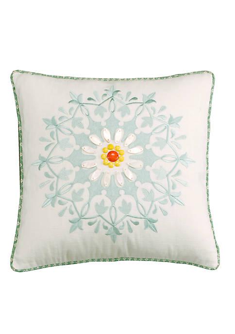 Echo Design™ Jaipur White Square Decorative Pillow 18-in.
