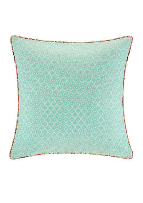 Guinevere Mint Square Decorative Pillow