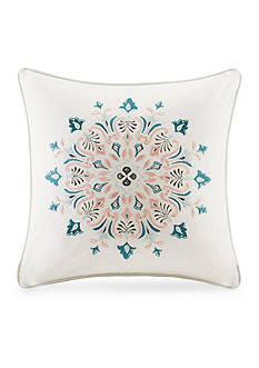 Echo Design™ Sterling Embroidered Medallion Square Decorative Pillow