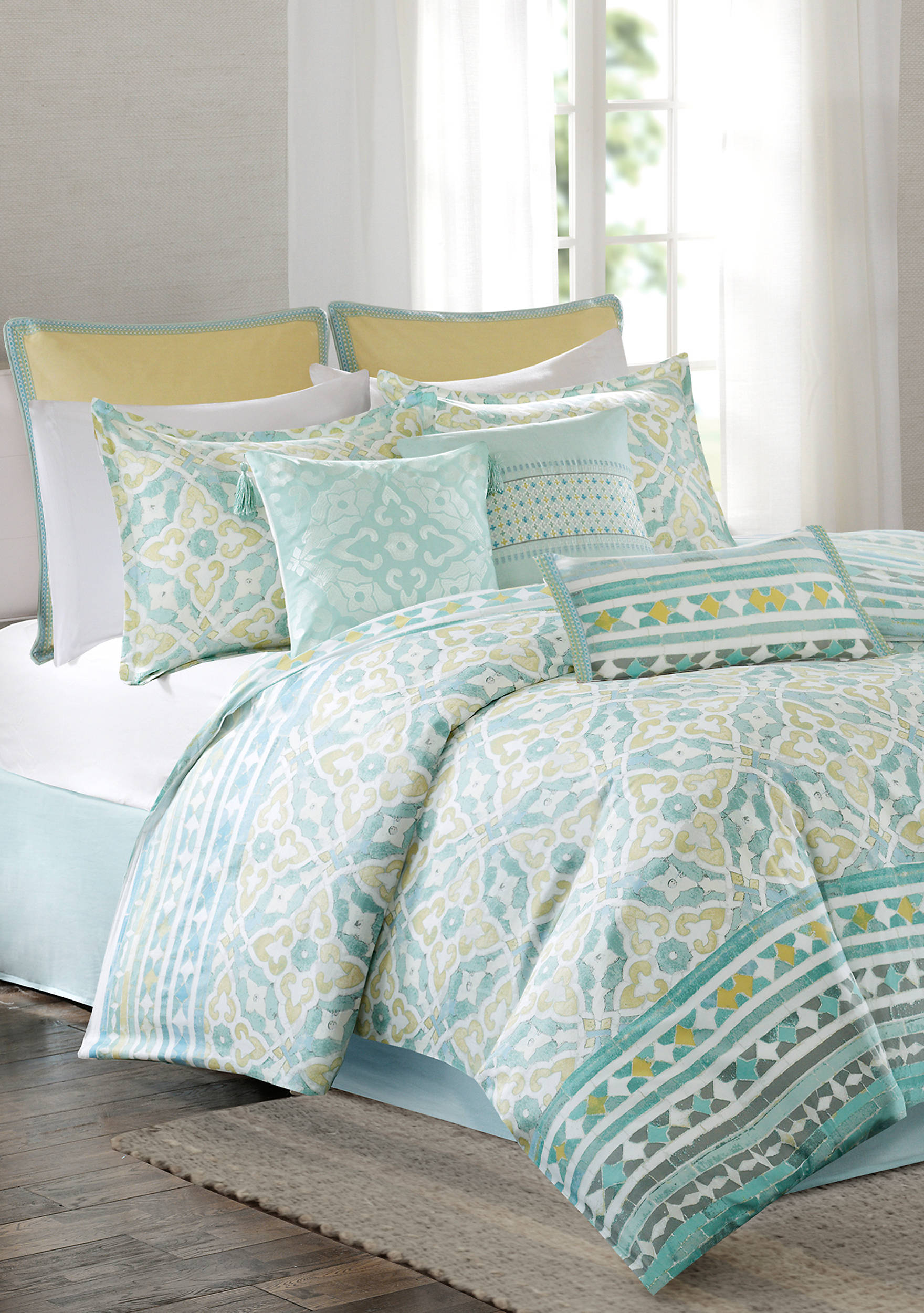 product set echo reflections bed com home qvc comforter damask page bedding