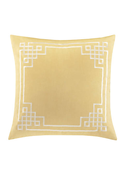 Fretwork Oil Yellow Euro Sham 26-in. x 26-in.