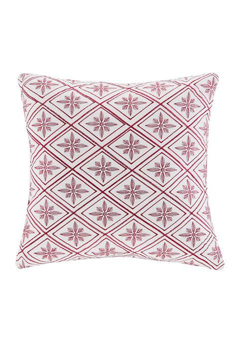 Cherry Blossom Red Diamond Print Decorative Pillow