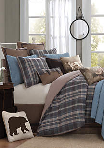 Hadley Plaid Blue King Comforter Set 110-in. x 96-in.