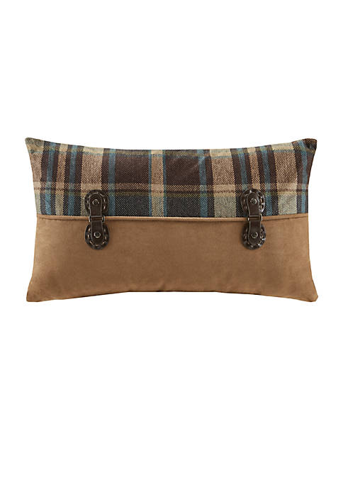 Hadley Plaid Brown Oblong Pillow 12-in. x 20-in.