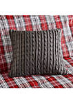 Williamsport Gray Knit Square Pillow