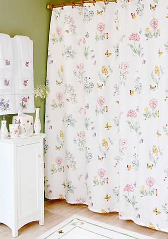 Lenox® Butterfly Meadow Shower Curtain 72-in. x 70-in. | belk