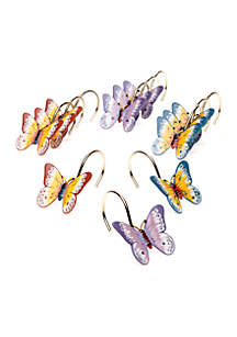 Butterfly Meadow Shower Curtain and Hooks - Sold Separately