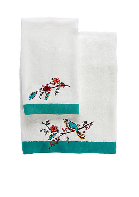 Simply Fine Chirp Embroidered Towel Collection