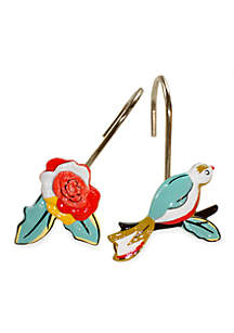 Chirp Shower Curtain and Hooks - Sold Separately