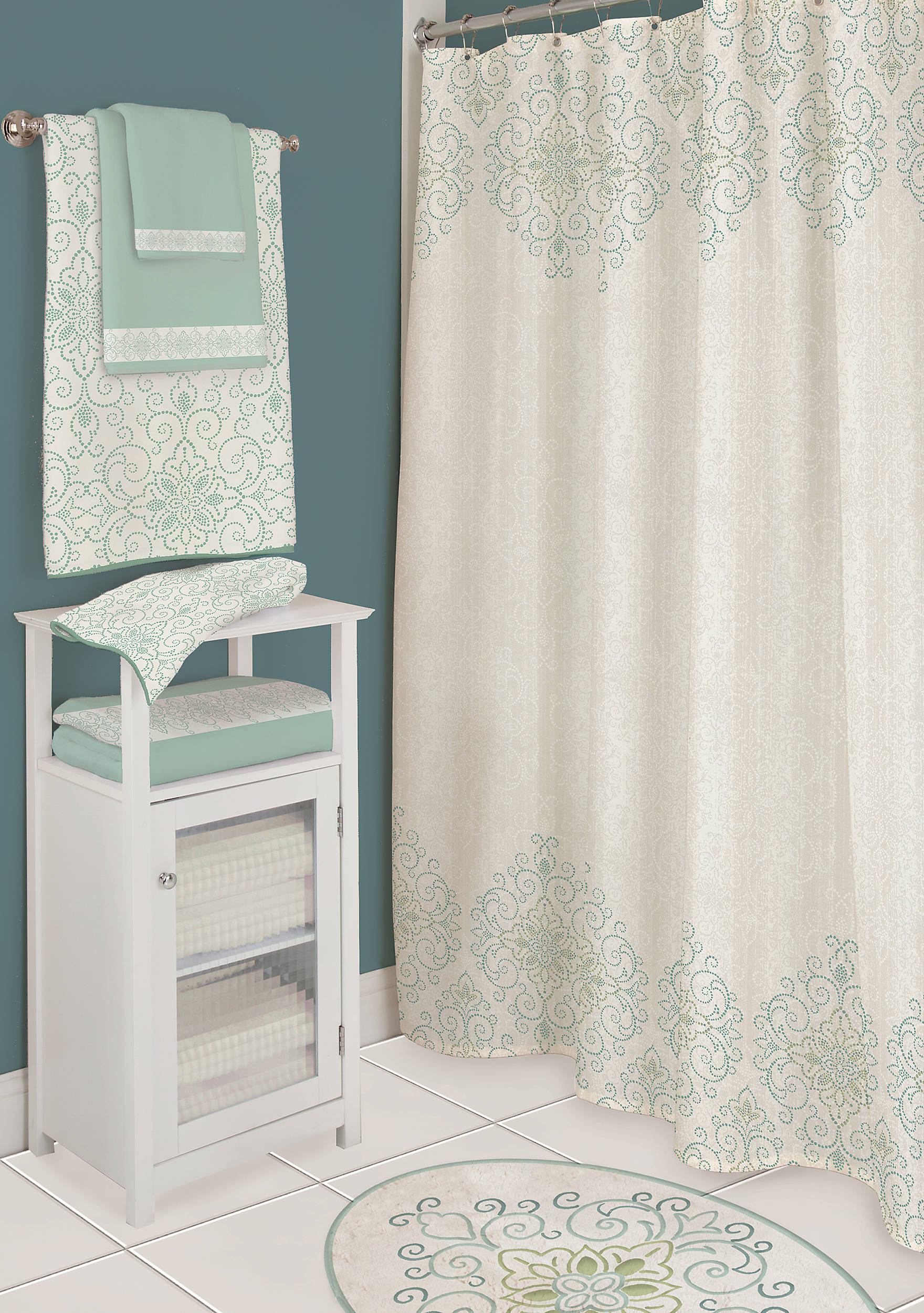 Lenox® French Perle Groove Shower Curtain | belk
