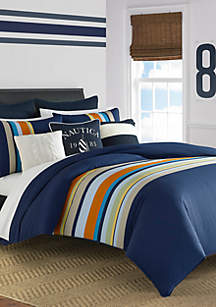 Nautica Sailing Stripe Comforter Set