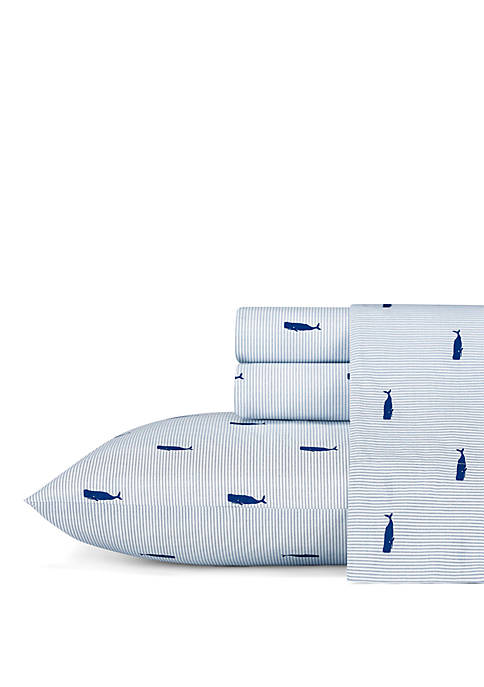 Nautica Whale Stripe Sheet Set