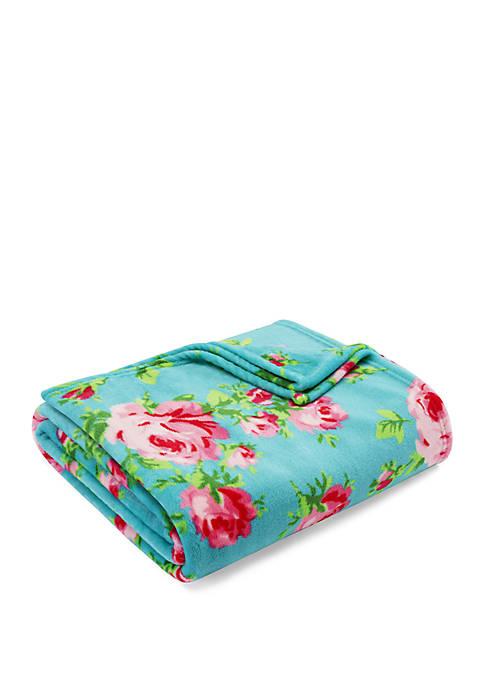 Betsey Johnson Bouquet Day Ultra Soft Plush Throw