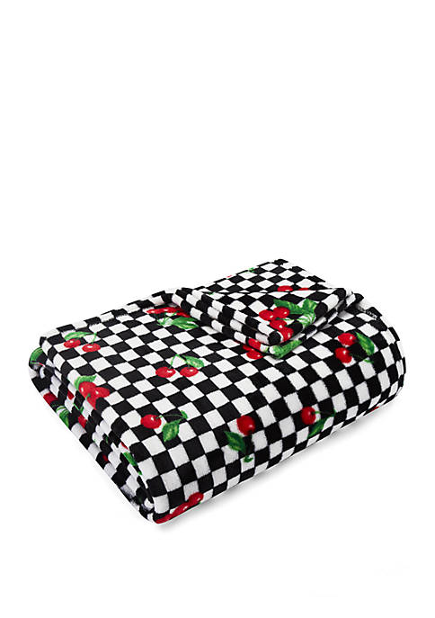 Betsey Johnson Bouquet Day Ultra Soft Plush Throw