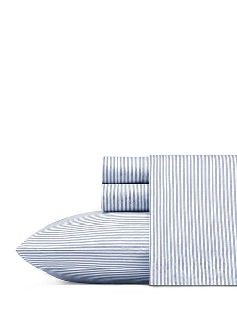Nautica Oxford Stripe Cotton Sheet Set