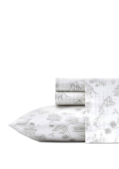 Nautica Vintage Map Cotton Sheet Set