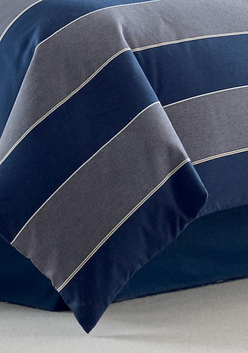 Nautica Harpswell Blue Full Bedskirt 54-in. x 75-in.