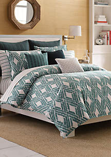 Caswell Teal King Duvet Set 92-in. x 107-in.