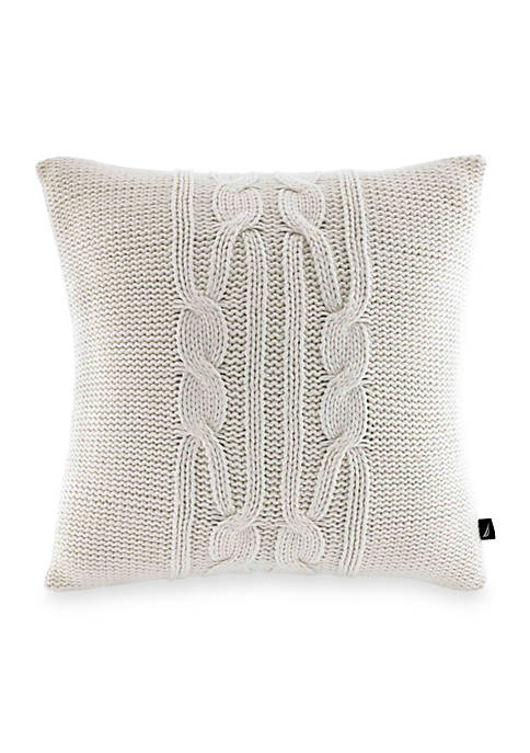 Nautica Seaward Ivory Decorative Pillow 16-in. x 16-in.