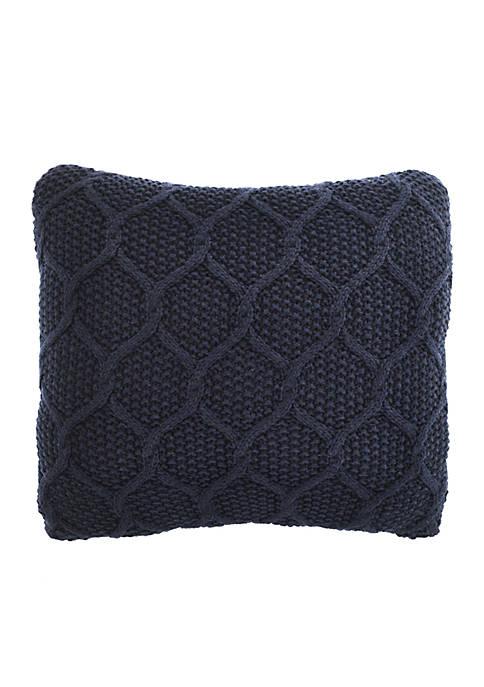 Nautica Ayer Lattice Knit Decorative Pillow 16-in. x
