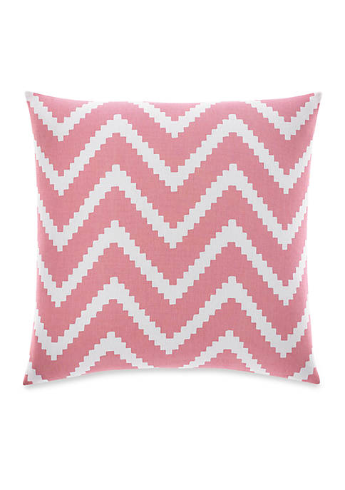 Pink Chevron Decorative Pillow 16-in. x 16-in.