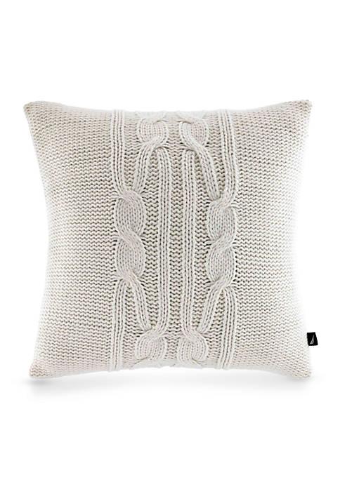 Nautica Bartlett Knit Square Decorative Pillow