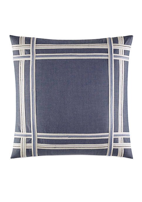 Nautica Fairwater Applique Decorative Pillow