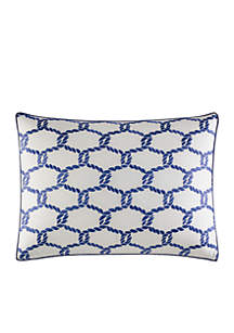 Cunningham Rope Embroidered Decorative Pillow
