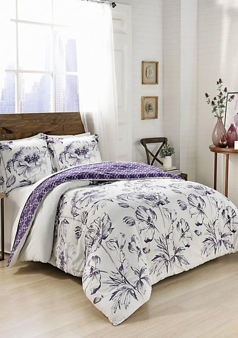 Marble Hill Jasmeen Reversible Comforter Set