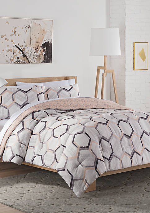 Hexagonal Reversible Comforter Set