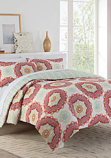 Belle Reversible Queen Comforter Set