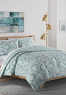 Frenchy Reversible Queen Comforter Set