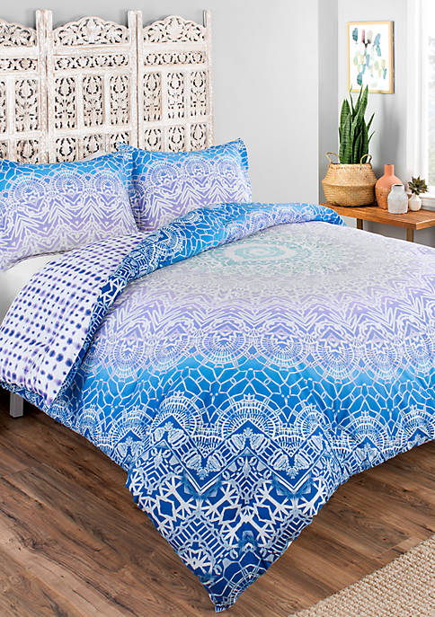 Boho Boutique Sundial 3-Piece Reversible Comforter Set