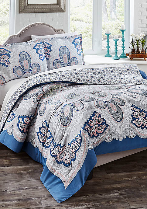 Serene 3-Piece Reversible Comforter Set