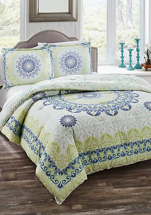 Gemology 3-Piece Reversible Comforter Set